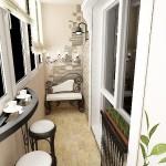 дизайн лоджии и балкона